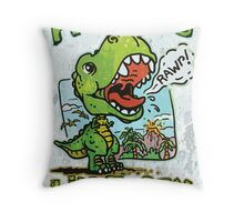 Auntie's Little T-Rex Throw Pillow