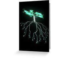 Digital Tree Greeting Card