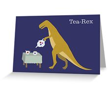 Tea-Rex Greeting Card