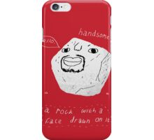 a rock with a face drawn on it. iPhone Case/Skin