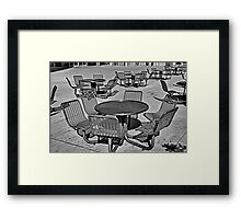 Seating Available Framed Print