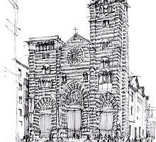 Cattedrale di Genova - schizzo di studio by Luca Massone  disegni