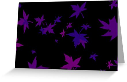 Purple on Black by Sharon Brown