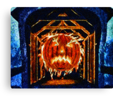 Pumpkin Head Canvas Print