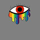 Crying Rainbow - Bright Red by impulsiVdesigns