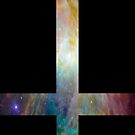 Rainbow Galaxy Inverted Cross by rapplatt