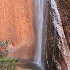 Waterfall at Uluru by Kymbo