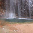 Uluru in Pools of Water by Kymbo