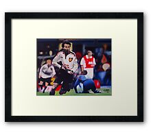 Giggs goal v Arsenal Oil on Canvas Framed Print