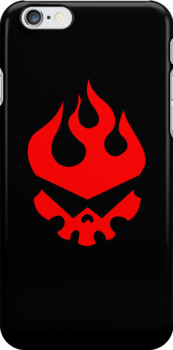 Gurren Dan Black iPhone Case by Robin Kenobi