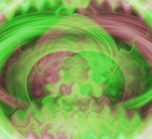 Swirling Green Wind Abstract by pjwuebker