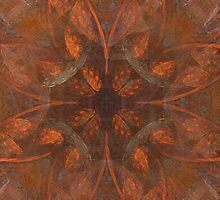 Star Flower in Orange Abstract by pjwuebker