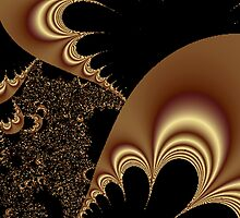 Shimmering Gold Parachutes Abstract by pjwuebker