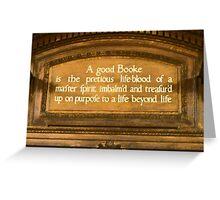 A Good Booke Greeting Card