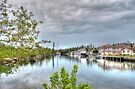 Rainy day at Coral Harbour Town in Nassau, The Bahamas by 242Digital