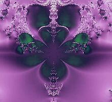 King of Four Leaf Clovers Abstract by pjwuebker