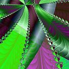 Infinite Green Ribbon Over Purple by pjwuebker
