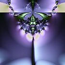 Emerald and Purple Abstract by pjwuebker