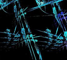 Blue Stick Man by pjwuebker