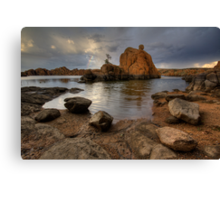 Following Rocks Canvas Print