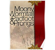 Moony, Wormtail, Padfoot, and Prongs Poster