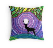 A Silent Visitor Throw Pillow