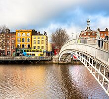 Ha'penny Bridge - Dublin Ireland by Mark Tisdale