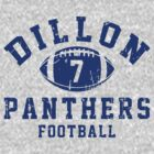 Dillon Panthers Football - 7 Gray by Stucko23