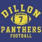 Dillon Panthers Football - 7 Blue by Stucko23