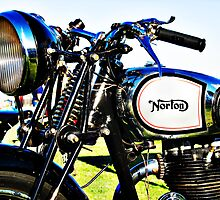1935 Norton model 50 motorcycle handlebar by htrdesigns