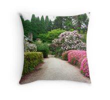 Springtime at Yengo, Rainbow Serpent Azalea hedge Throw Pillow