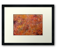 Gilded Orange Framed Print