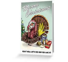 Rude Turkey Greeting Card