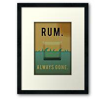 Rum Framed Print