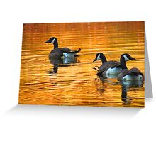 Golden Geese Greeting Card