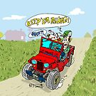 Willys Cj2A jeep at the farm by RFlores