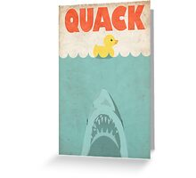 Jaws Rubber Duck 'Quack'  Greeting Card
