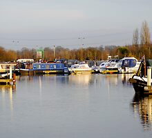 Various Boats at Barton Marina  by Rod Johnson