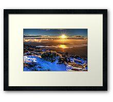 Sunrise over Hobart Framed Print