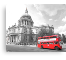 Red Routemaster at St Pauls Canvas Print