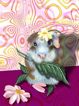 Herbie Hamster, animal whimsy by Alma Lee