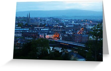 Derry at dusk by Agnes McGuinness