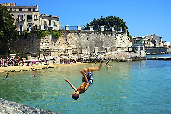 Beating the summer heat in Siracusa, Sicily by Millie Brown