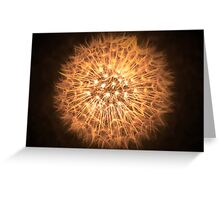 Dandelion Flame Greeting Card
