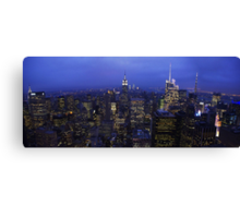 Lights of Manhattan Canvas Print