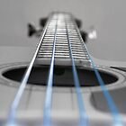 Bass Guitar Blue Strings by Paul Madden