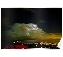 Lightning storm within cloud, over Sydney city, Australia  Poster