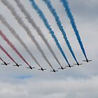 Red Arrows Overhead by jabisfab