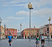 Massena Square in Nice, France by Gerda Grice