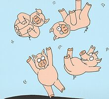 Trampoline Pigs by Kerry Cillo